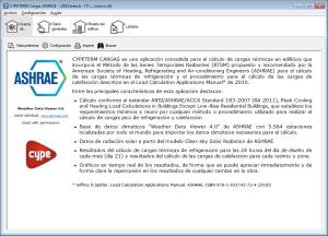 CYPETERM Cargas. Método de las Series Temporales Radiantes (RTSM) propuesto y recomendado por ASHRAE