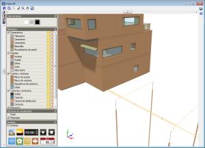 CYPECAD MEP. Climatización. Sistemas de captación de energía geotérmica. Vista 3D